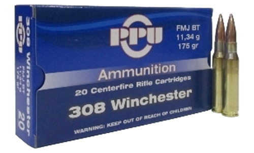 PPU .308WIN 175gr FMJ BT